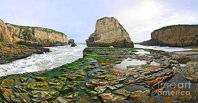 Dramatic Panoramic View Of Shark Fin Cove Poster by Jamie Pham