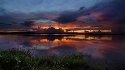 Dramatic Sunset At The Lake Poster