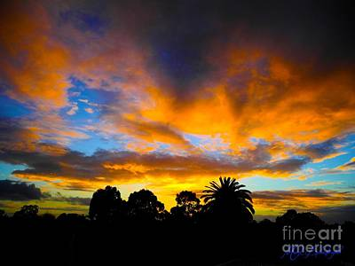 Poster featuring the photograph Dramatic Sunset by Mark Blauhoefer
