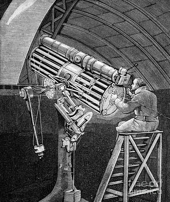 Draper Observing The Great Comet Of 1881 Poster