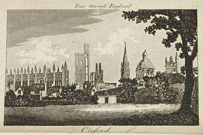 Drawing Of Oxford. Circa 1811 Poster by British Library