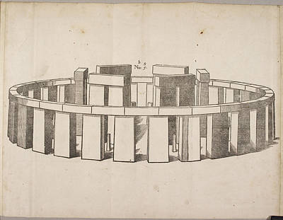 Drawing Of Stonehenge Poster by British Library