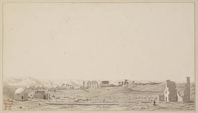 Drawing Of The Temple Complex At Esneh Poster by British Library