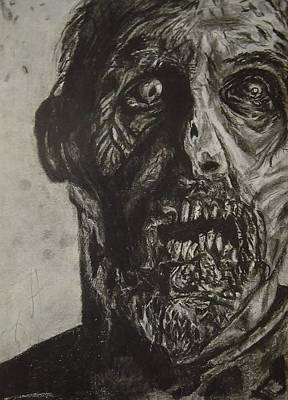 Drawing Of The Walking Dead Zombie Poster