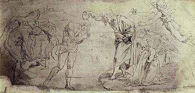 Drawing Raphael From Windsor Castle, Baptism In The Jordan Poster