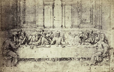 Drawing Raphael From Windsor Castle, The Last Supper Poster by Artokoloro