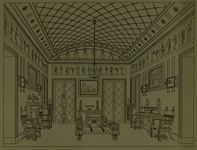 Drawing Room With Egyptian Decoration Poster
