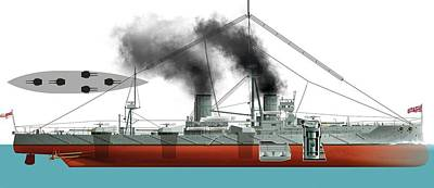 Dreadnought Battleship Poster by Jose Antonio Pe�as