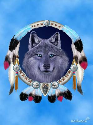 Dream Wolf Poster by Glenn Holbrook