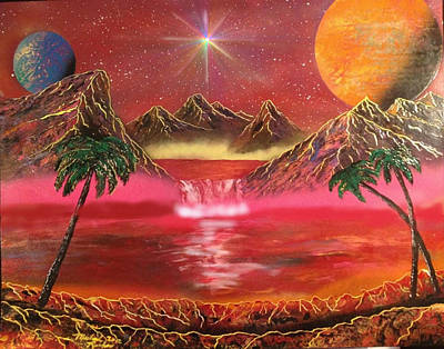 Poster featuring the painting Dream World by Michael Rucker