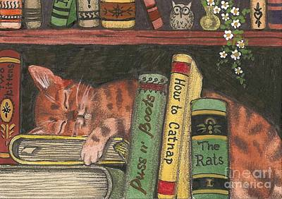 Dreaming In The Library Poster by Margaryta Yermolayeva