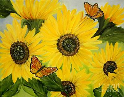 Poster featuring the painting Dreaming Of Summer by Carol Sweetwood