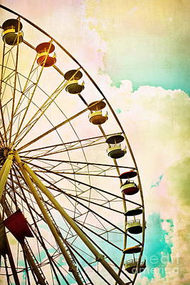 Dreaming Of Summer - Ferris Wheel Poster by Colleen Kammerer