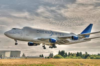 Dreamlifter Landing 1 Poster by Jeff Cook