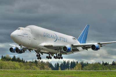 Dreamlifter Landing 2 Poster by Jeff Cook