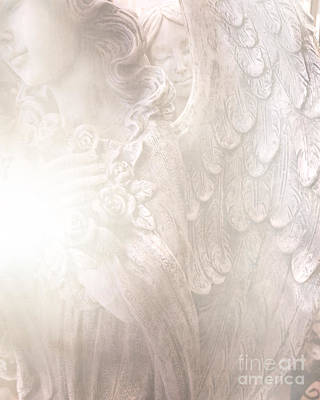 Dreamy Angel Art - Ethereal Spiritual Dream Angel Wings - Heavenly Angel Wings Poster by Kathy Fornal