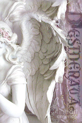 Dreamy Angel Wings Photography - Angel Wings Desiderata Print Home Decor Poster by Kathy Fornal