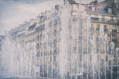 Dreamy Paris Fountains Poster