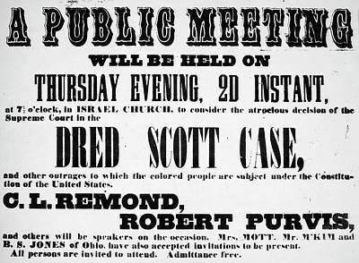 Dred Scott (c1795-1858) Poster by Granger