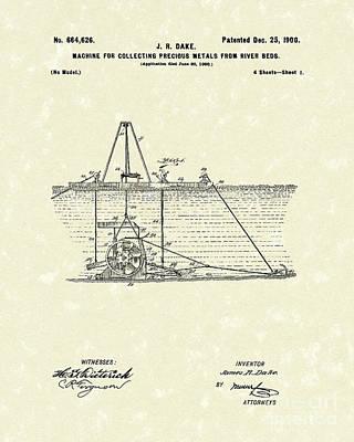 Dredger 1900 Patent Art Poster