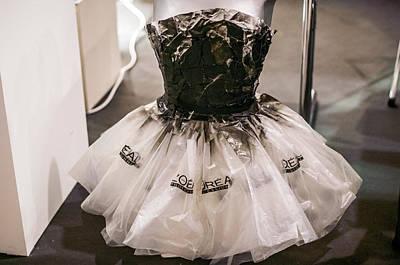 Dress Made Of Plastic Bags Poster by Georgina Noronha