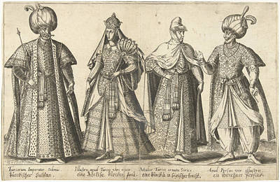 Dress Of The Ottoman Court Around 1580, Abraham De Bruyn Poster by Abraham De Bruyn And Joos De Bosscher