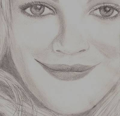 Drew Barrymore Poster by Christy Saunders Church