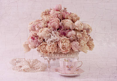 Poster featuring the photograph Dried Peony Still Life by Sandra Foster