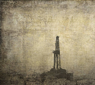 Drill Rig In The Distance Poster by Daniel Hagerman