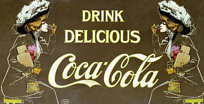 Drink Delicious Coca Cola Poster by Georgia Fowler