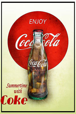 Poster featuring the photograph Drink Ice Cold Coke 2 by James Sage