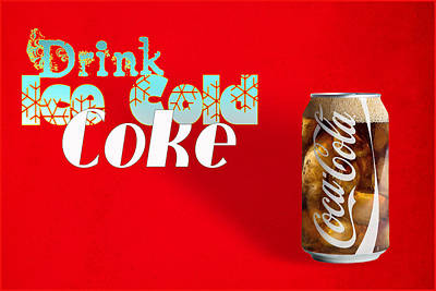 Drink Ice Cold Coke 3 Poster