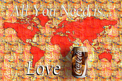 Poster featuring the photograph Drink Ice Cold Coke 5 by James Sage