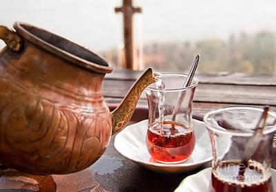 Drinking Turkish Tea Poster