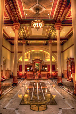 Poster featuring the photograph Driskill Hotel Check-in by Tim Stanley