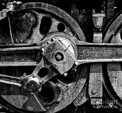 Drive Wheel - 190 - Bw Poster by Paul W Faust -  Impressions of Light