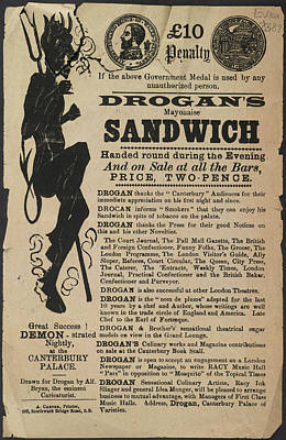 Drogan's Mayonaise Sandwich Poster by British Library