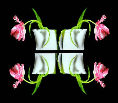 Droopy Tulips Poster
