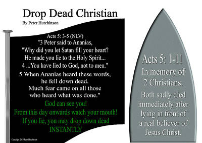 Drop Dead Christian Poster by Bible Verse Pictures