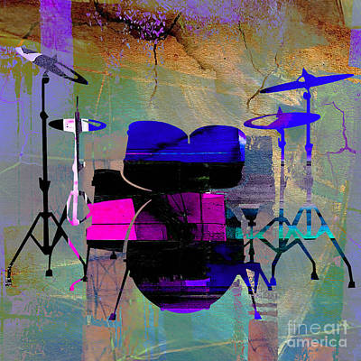Drum Set Poster by Marvin Blaine