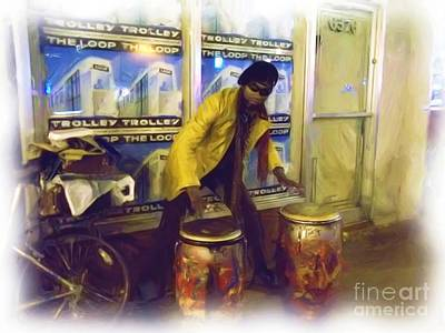 Drumma Man In Oils Poster by Kelly Awad