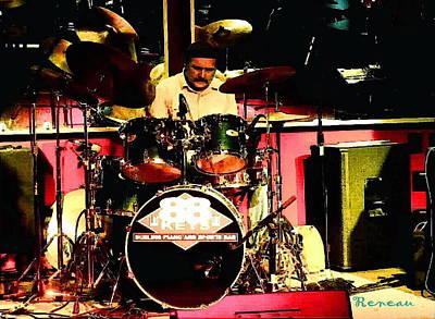 Drummer At 88 Keys Seattle Wa Poster by Sadie Reneau