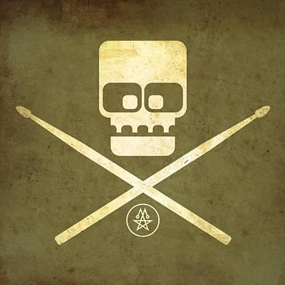Drumskull Poster