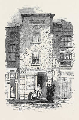 Drydens House, Fetter Lane Poster by English School