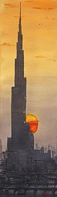 Dubai Sunset  Poster
