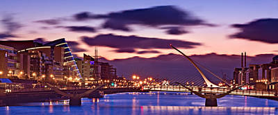 Poster featuring the photograph Dublin Docklands At Dawn / Dublin by Barry O Carroll