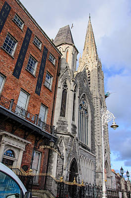 Dublin Street View Poster by AMB Fine Art Photography