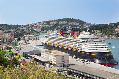 Dubrovnik, Croatia. Cruise Ship Poster