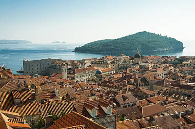 Dubrovnik View To The Sea Poster by Phyllis Peterson