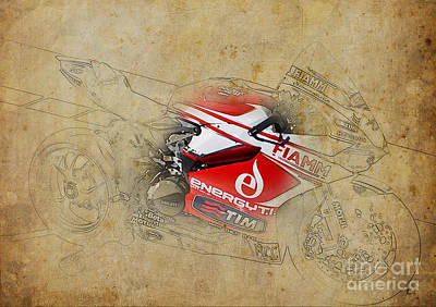Ducati 1199 Panigale R Wsbk 2013 Poster by Pablo Franchi